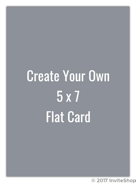 create your own 5x7 flat card create your own templates