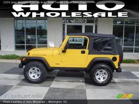 yellow jeep interior solar yellow 2004 jeep wrangler rubicon 4x4 slate