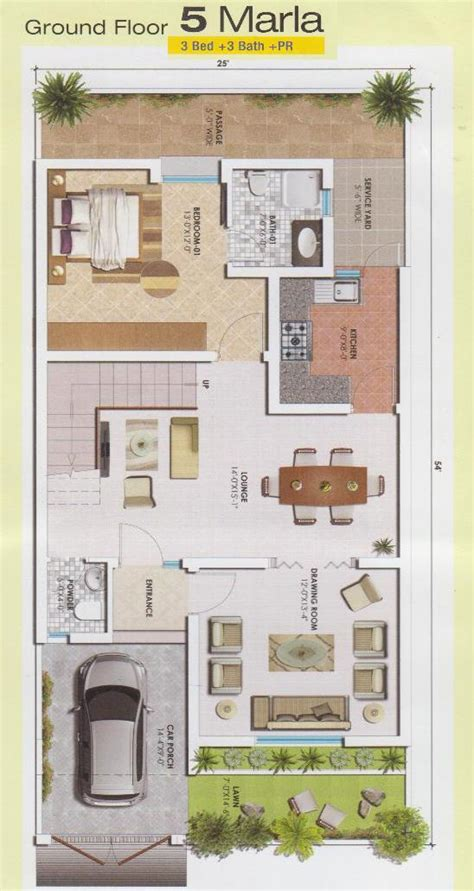 3d home design 5 marla 5 marla ground floor drawing real estate housing town planning news