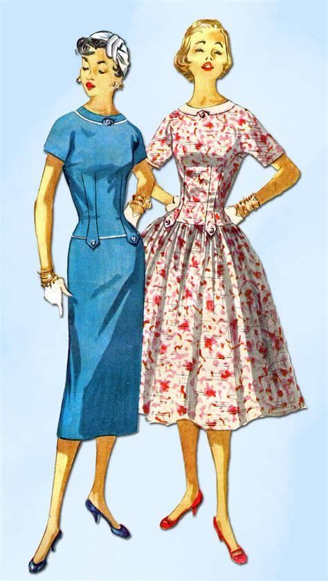 simple vintage pattern 1950s vintage simplicity sewing pattern 1445 uncut misses