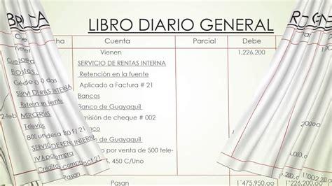 libro yage el general contabilidad f 225 cil asiento diario general youtube