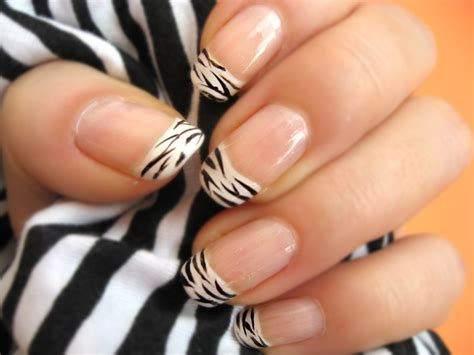 nails designs zebra print animal print nail art trend