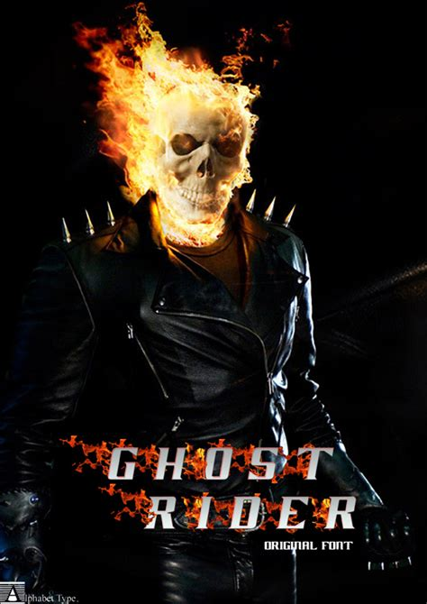 film of ghost rider ghost rider movie font dafont com