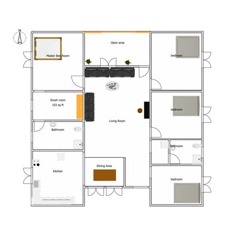 room floor plans images of 3 bed room house plans