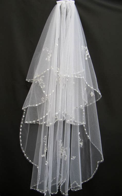 2014 free shipping wedding veils 2 tiers white ivory