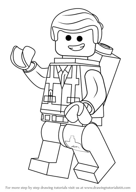 Learn How To Draw Emmet Brickowski From The Lego Movie Emmet Coloring Pages