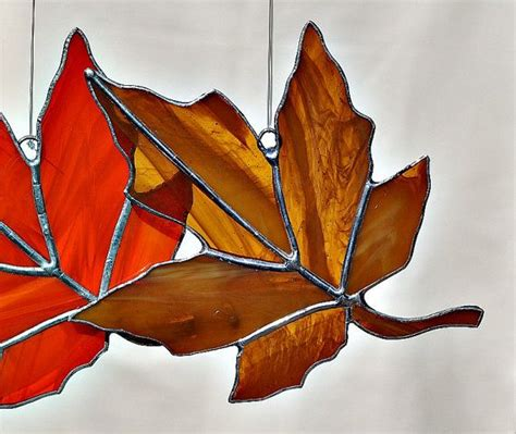 leaf pattern for stained glass brown maple leaf stained glass stained glass pinterest