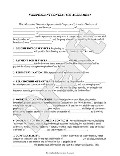real estate independent contractor agreement template independent contractor agreement form template with