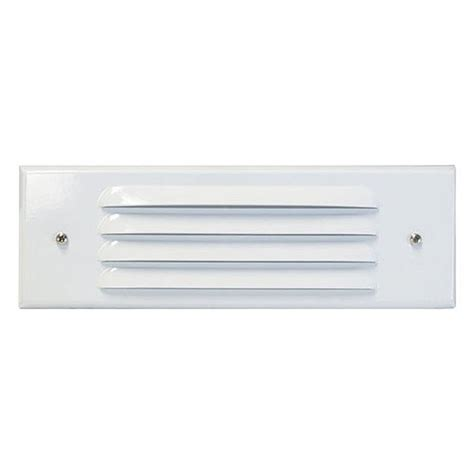 louvered light cover outdoor low voltage louvered white glass lens rectangle