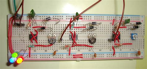 rgb led bulb circuit diagram using 555 timer ics