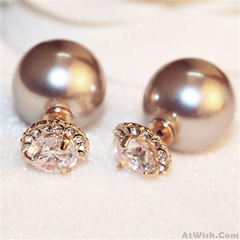 Sided Earrings sided pearl earrings studs