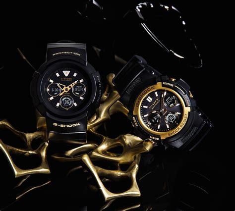Gshock Line Black Gold g shock awg m510sbg 1ajf awg m100sbg 1ajf black gold