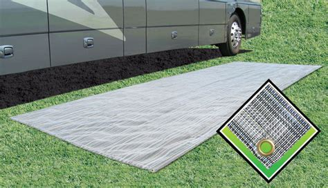 rv patio mat prest o fit aero weave breathable outdoor mat 6x15 cingcomfortably