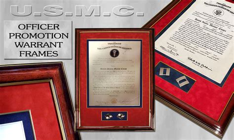 Officer Promotion Certificate Frame | custom certificates