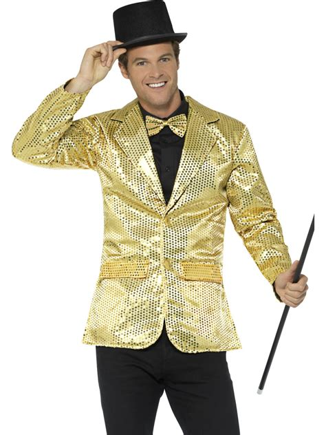 gold sequin jacket mens costume 70s costumes mega
