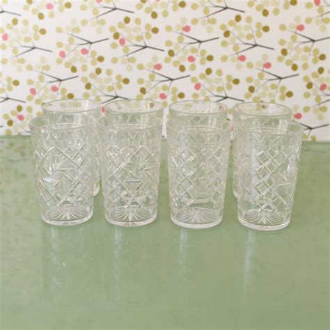 Antique Kitchen Canisters vintage clear drinking glasses plastic picnic by