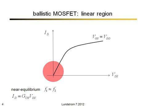 transistor lifier region nanohub org resources nanoscale transistors lecture 6 ballistic model presentation