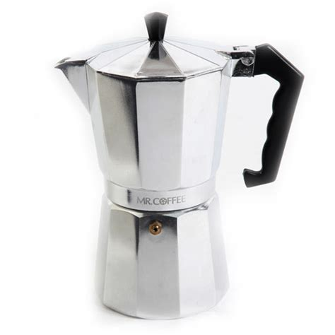 Mr. Coffee Brixia 3 Piece 6 Cup Stove Top Espresso Maker   Walmart.com