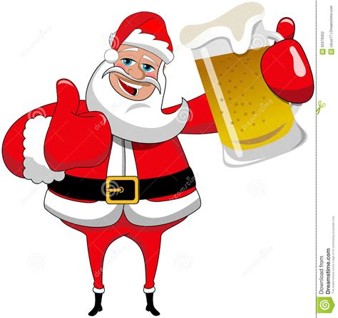 Mug Natal Santa Claus santa claus mug thumb up stock vector illustration