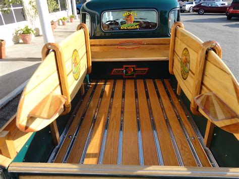1950 chevrolet 3100 custom woody retro interior y