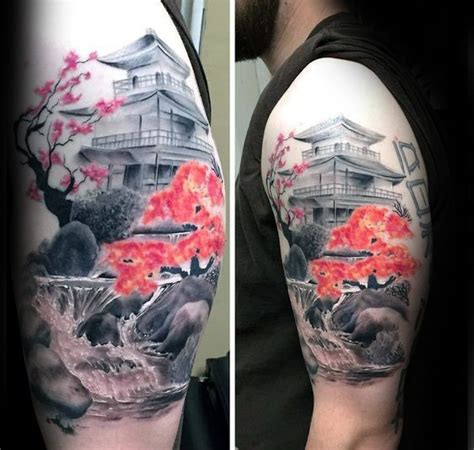 japanese waterfall tattoo designs 100 cherry blossom designs for floral ink ideas