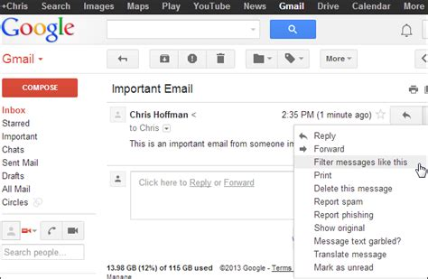 How Do You Search Emails In Gmail How To Get Notifications For Only The Emails You Care About With Gmail On Android
