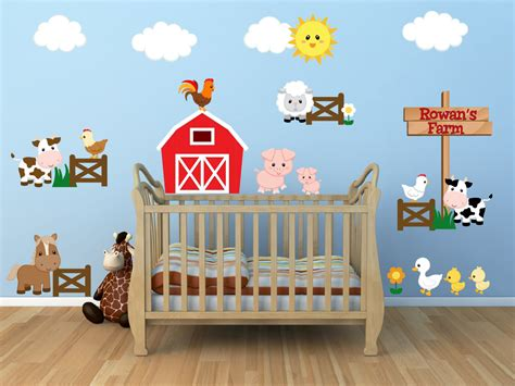 Toddler Wall Stickers kids room wall decals farm wall decals farm animal decals