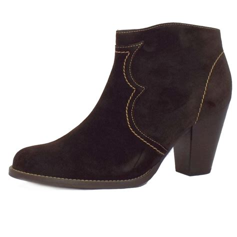 kaiser marisana suede ankle boots in brown