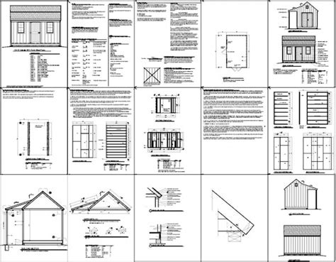 10x16 Shed Plans Free by Free Shed Plans 12x16 Gambrel Shed Blueprints 10x16