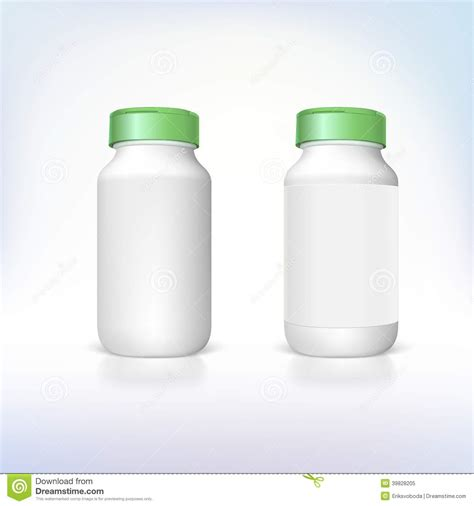bottle for dietary supplements and medicines stock vector