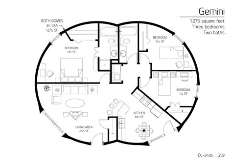 monolithic dome homes floor plans floor plan dl 3405 monolithic dome institute