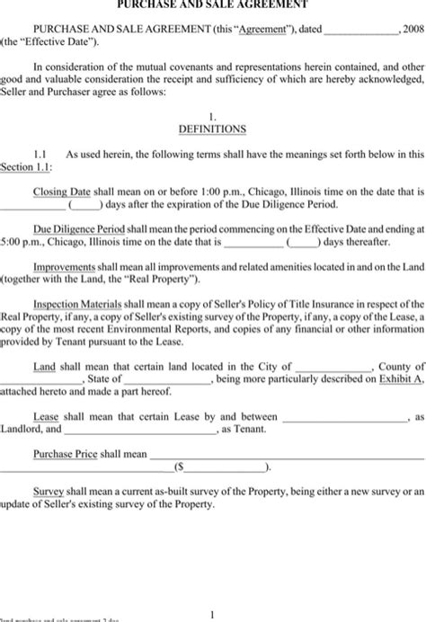 Download Land Purchase Agreement For Free Formtemplate Land Purchase Agreement Template