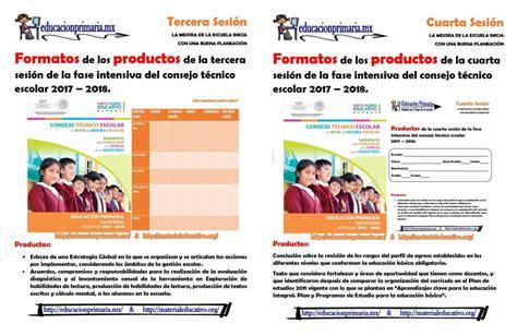 formatos de productos y material para la sexta sesin de cte marzo formatos de los productos de la tercera y cuarta sesi 243 n de