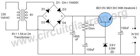 3v power supply circuit diagram 3v 1a dc power supply circuit diagram