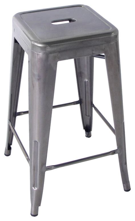 vintage steel industrial modern counter stool kathy kuo home bouchon french quot dustrial steel backless cafe counter stool