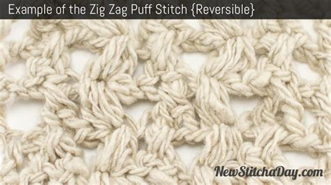 zig zag puff stitch pattern the zig zag puff stitch crochet stitch 89