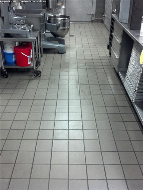 Commercial Kitchen Quarry Floor Tile Cleaning Services Janitorial Cleaning Services Janitorial