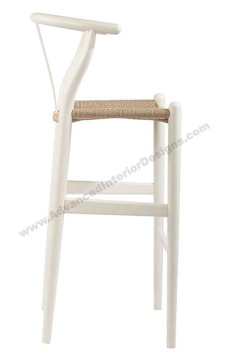 White Wishbone Counter Stool by Wishbone Counter Stool White