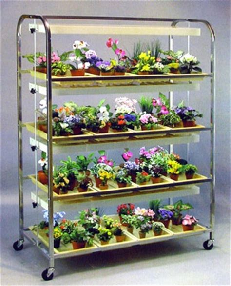 large  shelves  tray lighted seedling cart