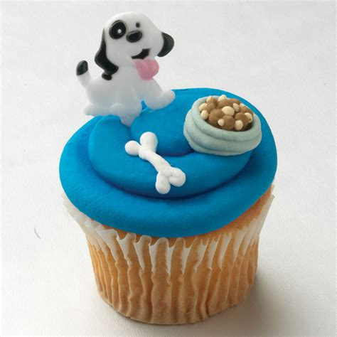 puppy cupcakes cupcake rings toppers picks puppy puppy cupcake picks