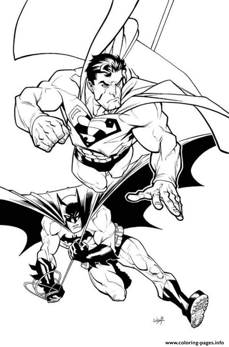 coloring pages of batman and superman superman and batman coloring page3f76 coloring pages printable
