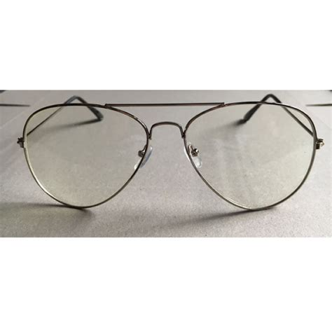 Metal Frame Lens Glasses vintage style large big eyeglasses metal frame clear lens