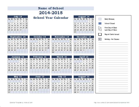 yearly school calendar template school calendar template 2018 2019 school year calendar
