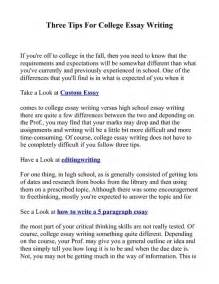 Tips For Writing A College Essay by Three Tips For College Essay Writing Pdfsr