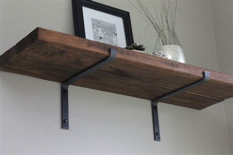 metal shelf brackets for simple storage home decorations