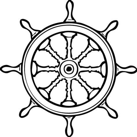 dessin roue bateau coloriage un gouvernail dory fr coloriages