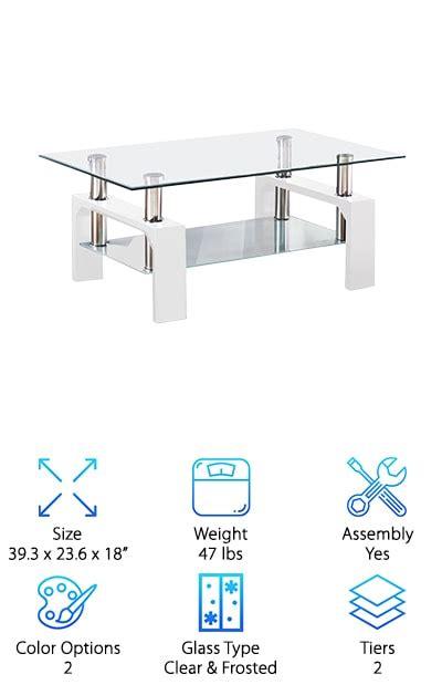 virrea rectangular glass coffee table best modern glass coffee tables top 10 picks