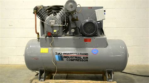 ingersoll rand  hp air compressor youtube