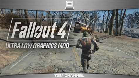 ultra low graphics vs fallout 4 fallout 4 ultra low graphics mod youtube