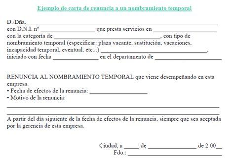 ejemplo de carta de renuncia breve ejemplos de carta ejemplo de carta de renuncia breve ejemplos de carta